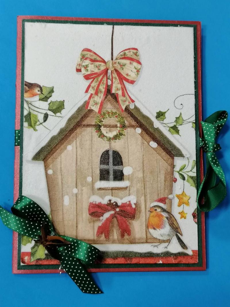 Ръчно изработена Коледна картичка