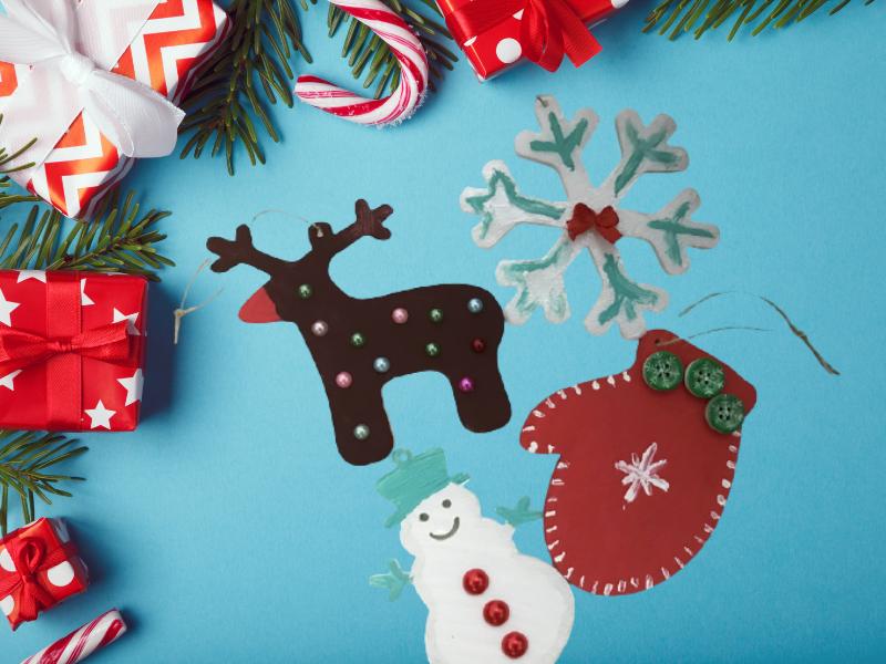 Декоративни Коледни фигурки за елха
