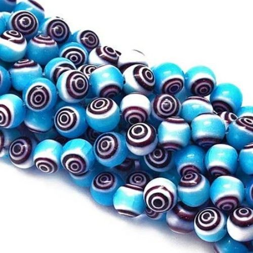 12 Handmade Lampwork Glass Disc Beads Teal Glass Disc Beads FREE SHIPPING