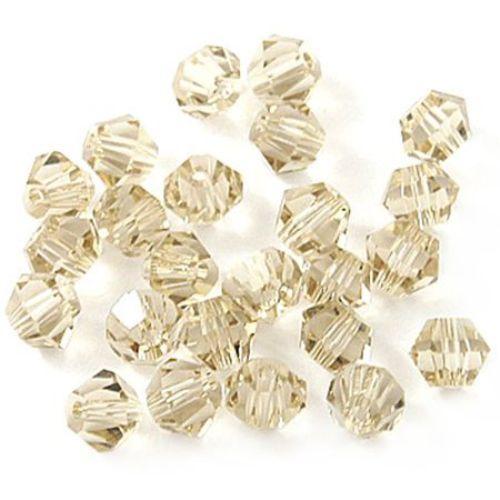 Margele cristal 6 mm gaură imitație 1,3 mm Swarovski maro -12 bucăți