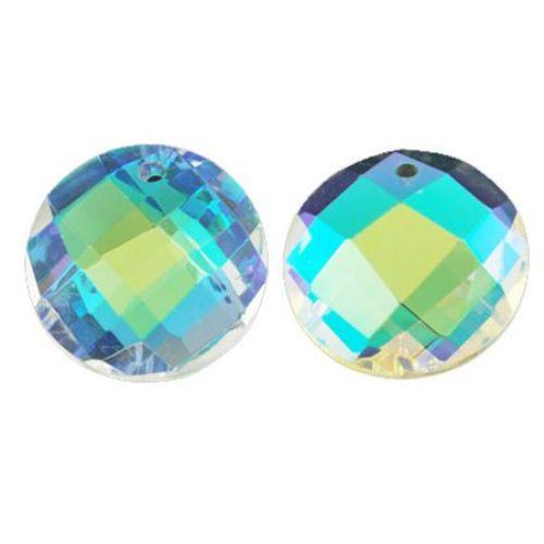Висулка кристал овал 25X10 мм дупка 1.5 мм