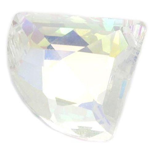 Висулка кристал ветрило 29x25x10 мм дупка 2 мм