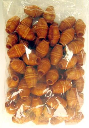 Margele Cilindru antic 17 mm gaură 3 mm maron -50 grame