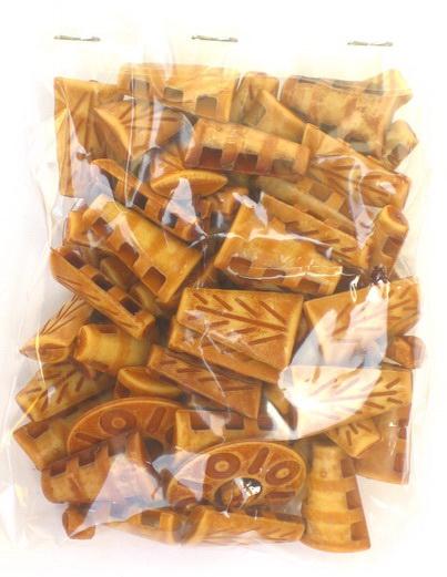 Margele brad antic 23 mm maron -50 grame