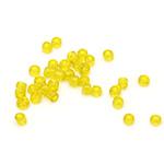 Мъниста стъклена 2 мм прозрачна жълта -50 грама