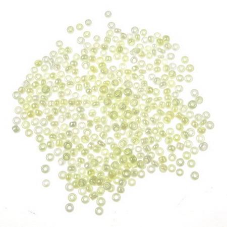 Мъниста стъклена 2 мм цейлон кремава -50 грама