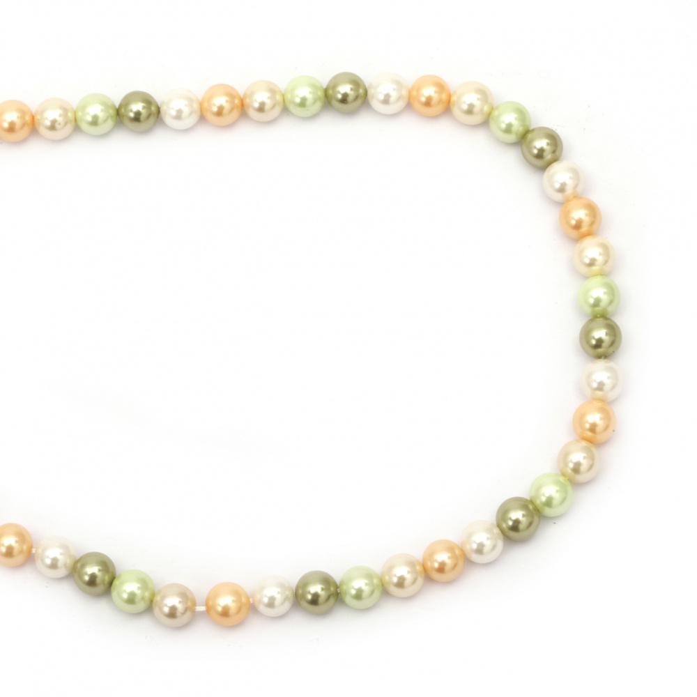 Șir de perle naturale clasa A de 8 mm asortate ~ 49 bucăți