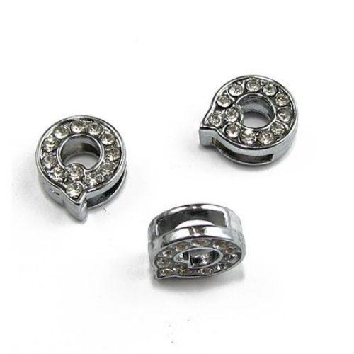 Literă pentru coarde cristale metalice gaură Q de 8 mm