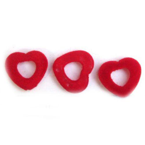Inimă cu o gaură  de 3 mm roșu -50 grame