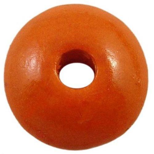 Диск 3x6 мм дупка 2 мм оранжев -50 грама
