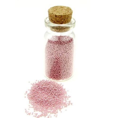 Топчета стъклени 0.6 -0.8 мм декоративни плътни цвят -10 грама