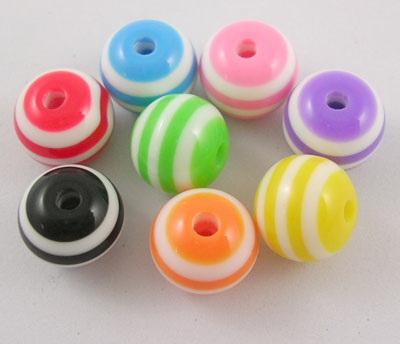 Σφαίρα ρητίνη 10 mm τρύπα 2 mm πολύχρωμα -50 τεμάχια