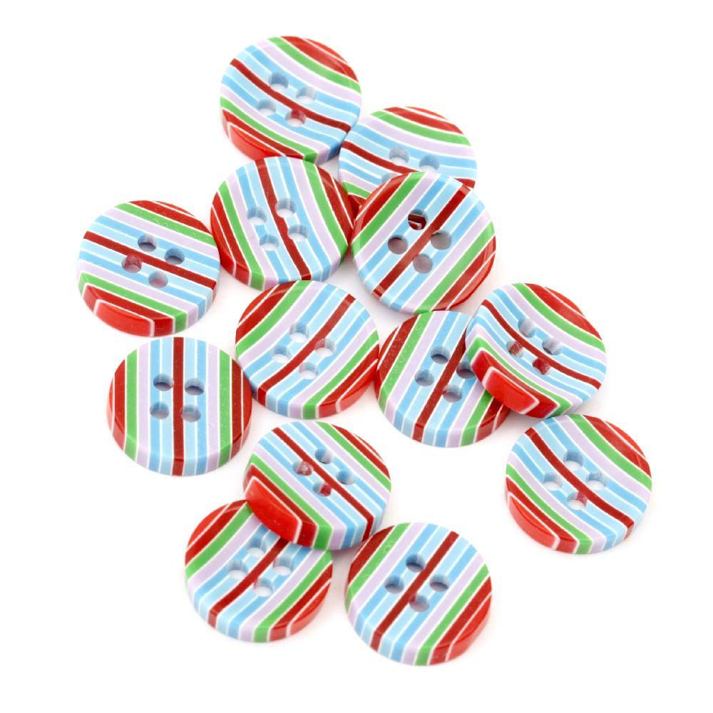 Копче резин 13x3 дупка 1 мм цветно -10 броя