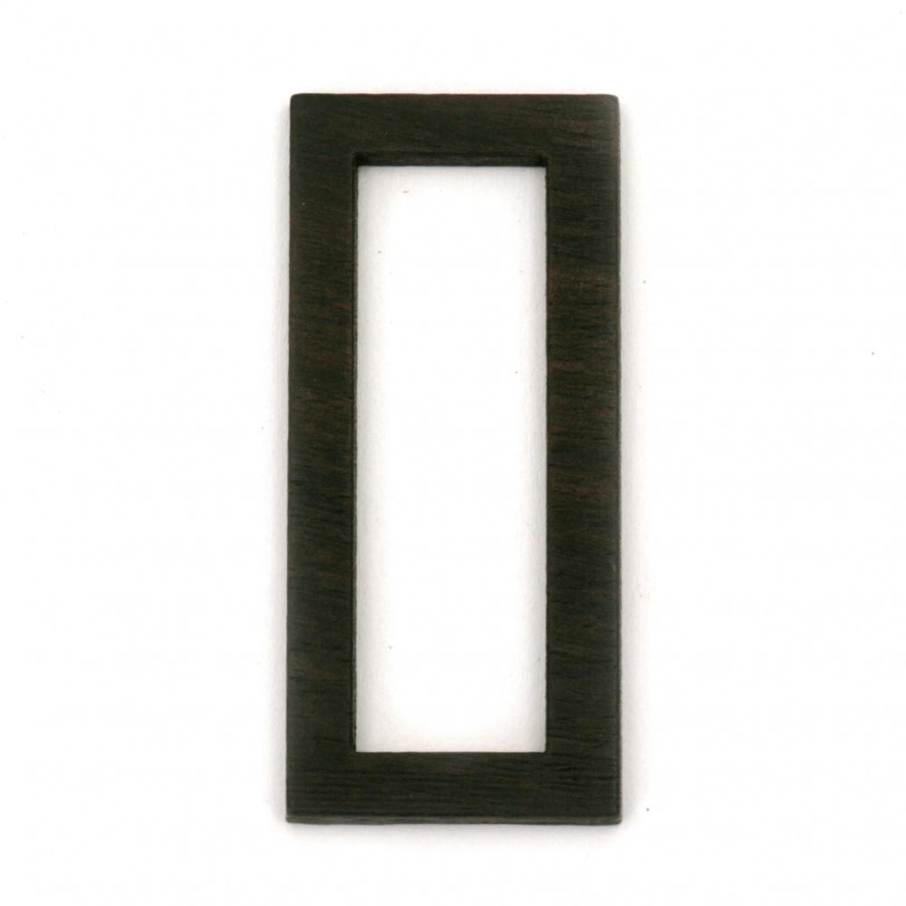 Основа за медальон рамка от масивно абаносово дърво 19x42x3 мм правоъгълник
