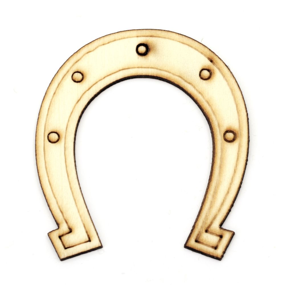 Wooden horseshoe 79 х 94 mm