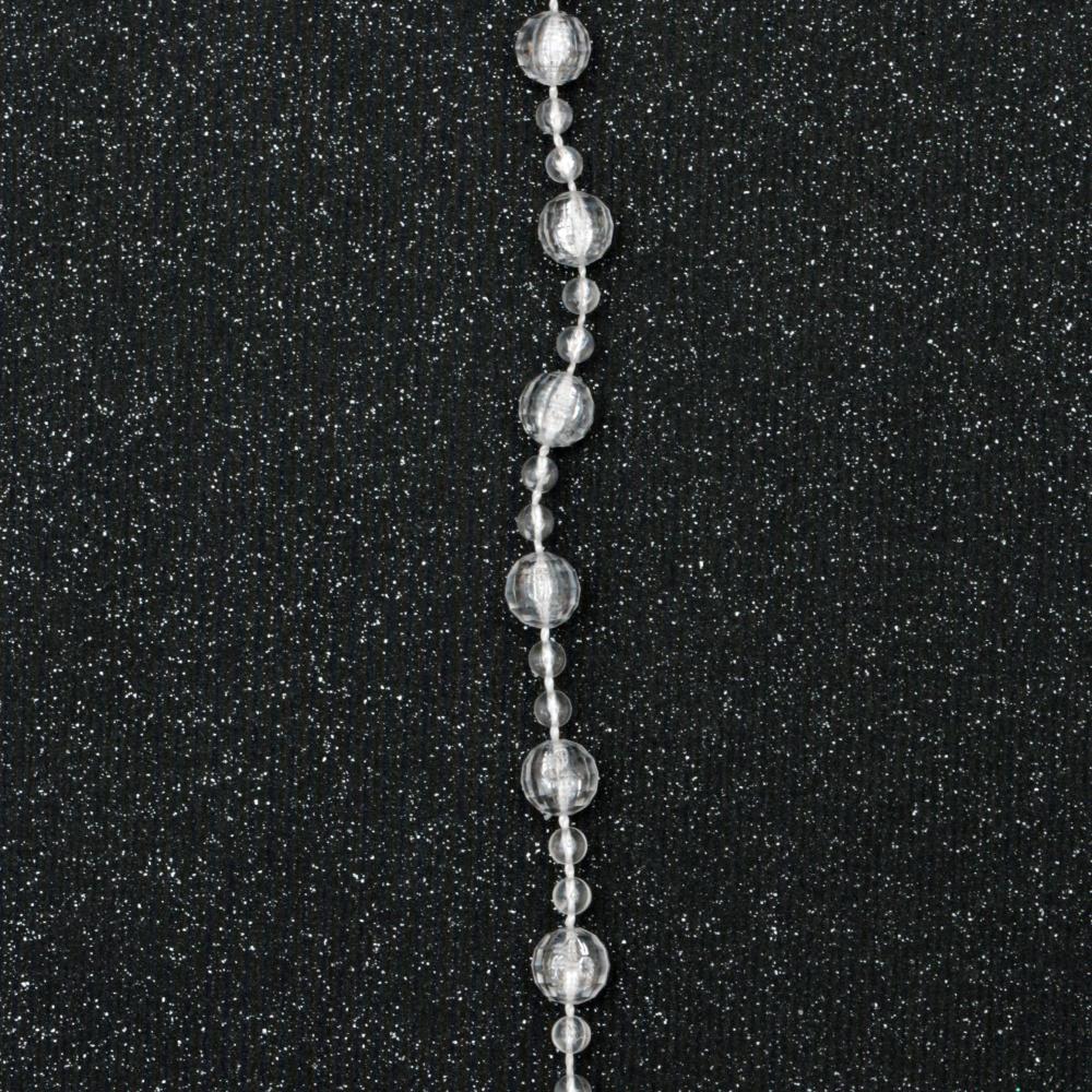 Γιρλάντα με πλαστικές μπαλίτσες  4 ~ 8 mm -1 μέτρο