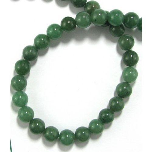 Perle  piatră semiprețioasă Aventurină BOLĂ VERDE INCHIS 10 mm ~ ~ 39 bucăți