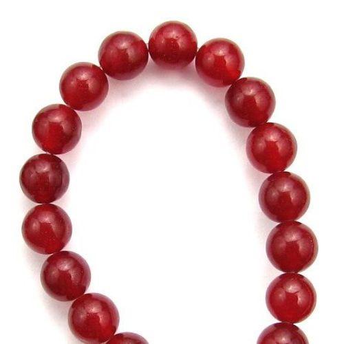 Αχάτης red στρόγγυλη ημιπολύτιμη χάντρα 8 mm ~ 48 κομμάτια