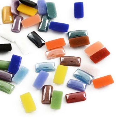 Porcelain beads for gluing 10 х 5 х 2.5 mm MIX