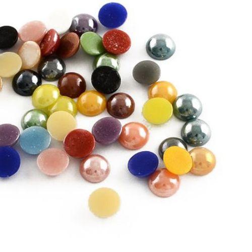 Porcelain beads for gluing   9 х 4  mm   MIX