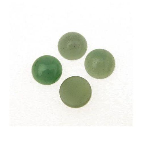 Semi-precious stone cabochon type AMAZONITE circle 10x5 mm