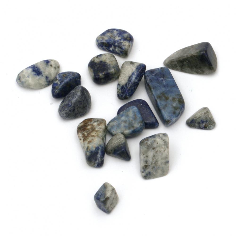 Φυσική πέτρα Λάπις Λαζούλι χωρίς τρύπα 7 ~ 12x8 ~ 20 mm - 50 γραμμάρια