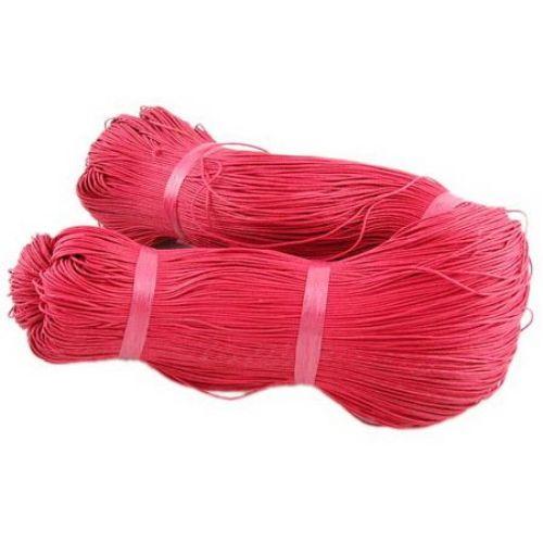 Памучен колосан шнур/конец/ 1 мм червен ~69 метра