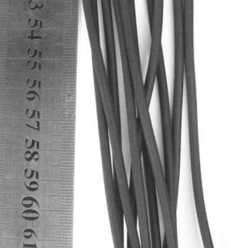 Snur silicon 3,3 mm tub negru mat -100 metri