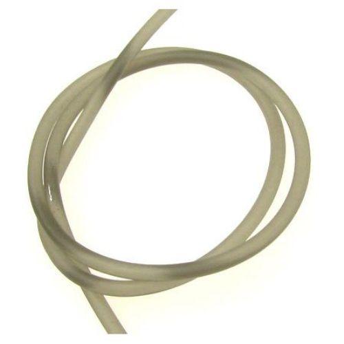 Κορδόνι σιλικόνης 3 mm ματ γκρι-πράσινο -5 μέτρα