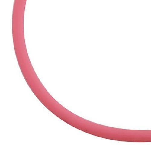 Κορδόνι σιλικόνης 2 mm ροζ σκούρο -5 μέτρα