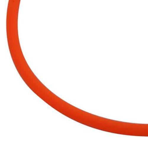 Κορδόνι σιλικόνης 2 mm Πορτοκαλί ηλεκτρίκ -5 μέτρα