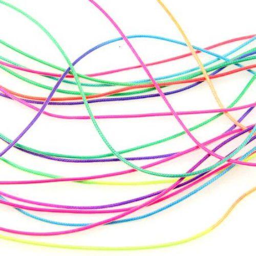 Κορδόνι σιλικόνης  χρώμα  μιξ 1,4 mm 20 τεμάχια x1 μέτρο