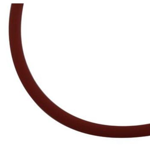 Κορδόνι σιλικόνης 2 mm καφέ σκούρο -5 μέτρα