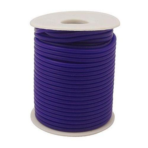 Κορδόνι σιλικόνης 2 mm τρύπα 0,5 mm σκούρο μπλε -52 μέτρα