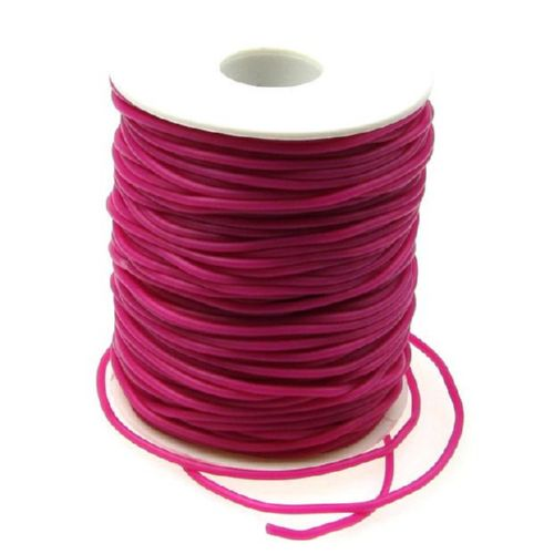 Silicone cord 2 mm hole 0.5 mm cyclamen -52 meters