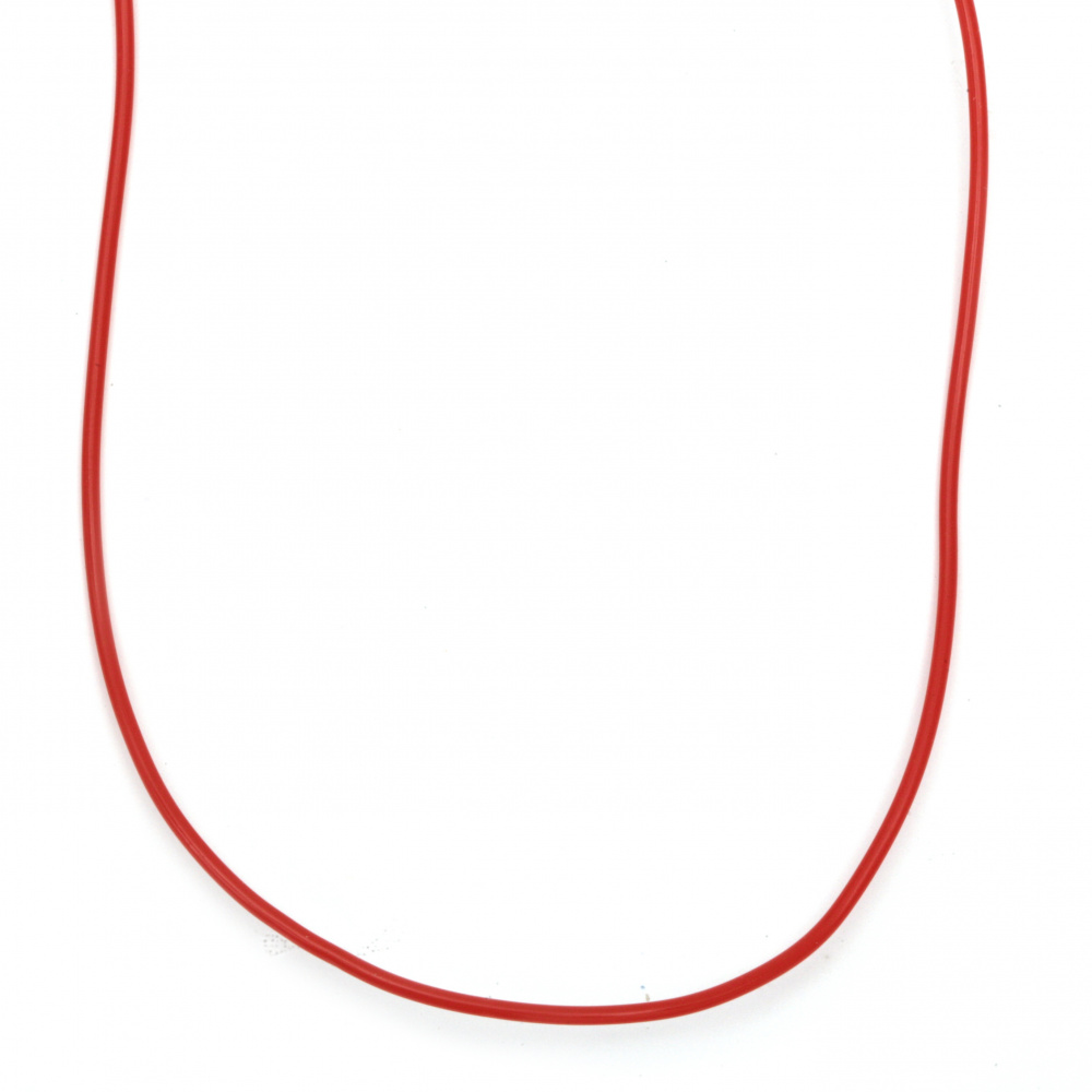 Silicone 2 mm 20 pieces x1 meter red