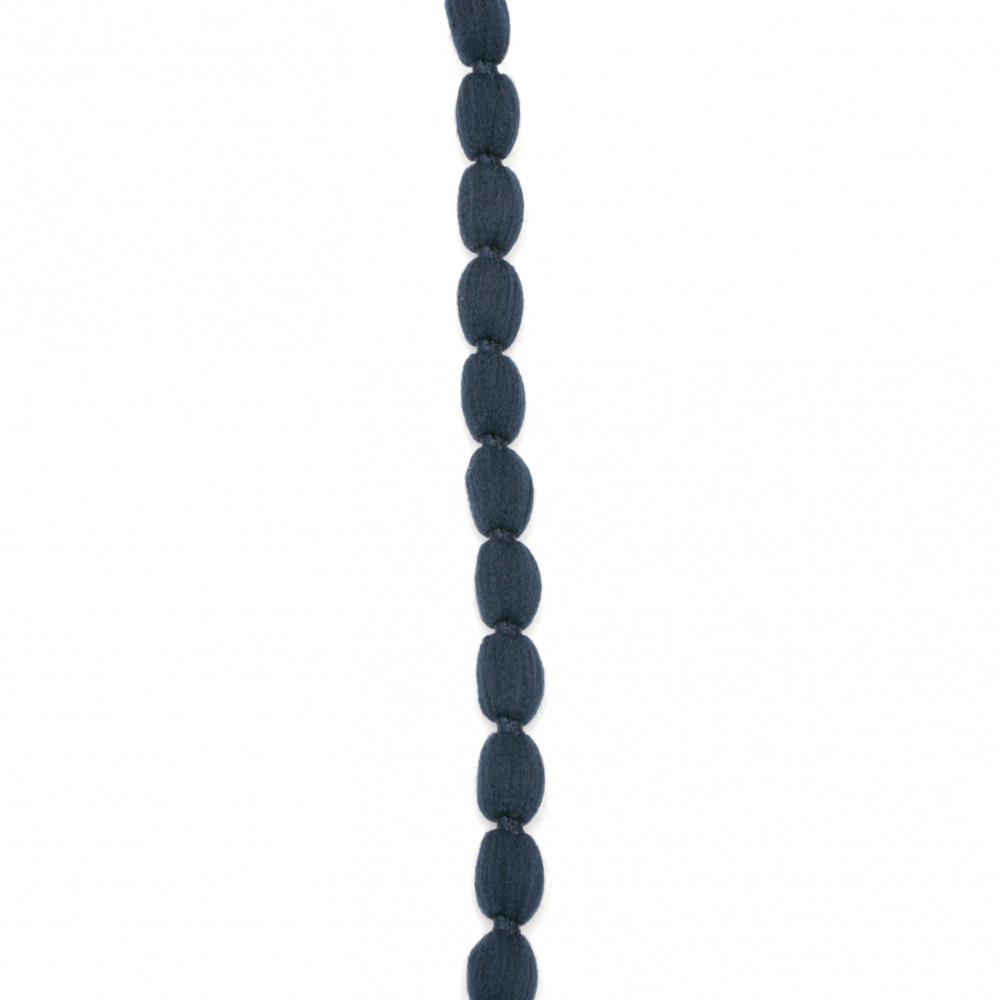 Шнур полиестер 10 мм син тъмно -5 метра