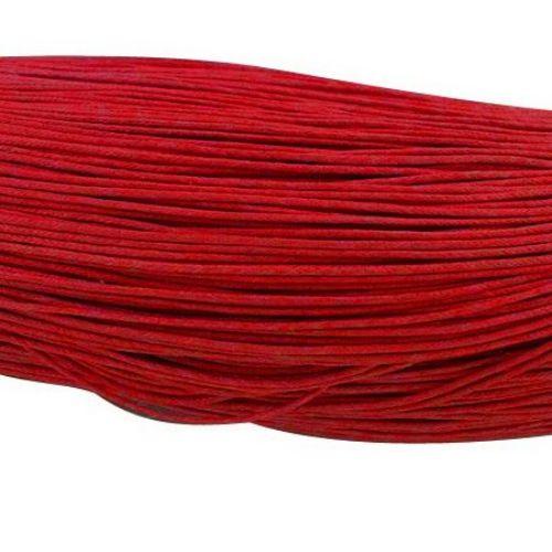 Колосан памучен шнур/конец/ 0.8 мм червен ~67 метра