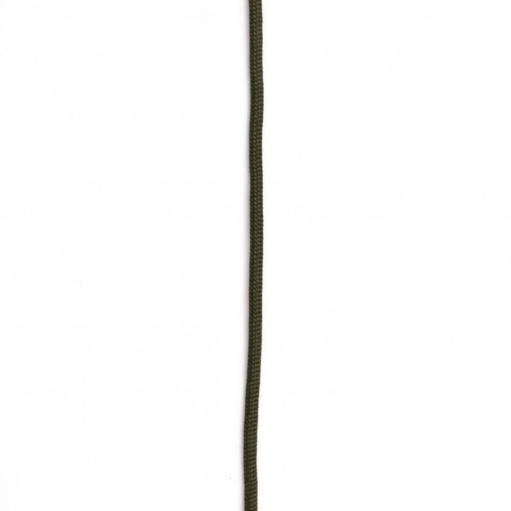 Паракорд /парашутно въже/ 3 мм цвят зелен маслинено - 1 метър