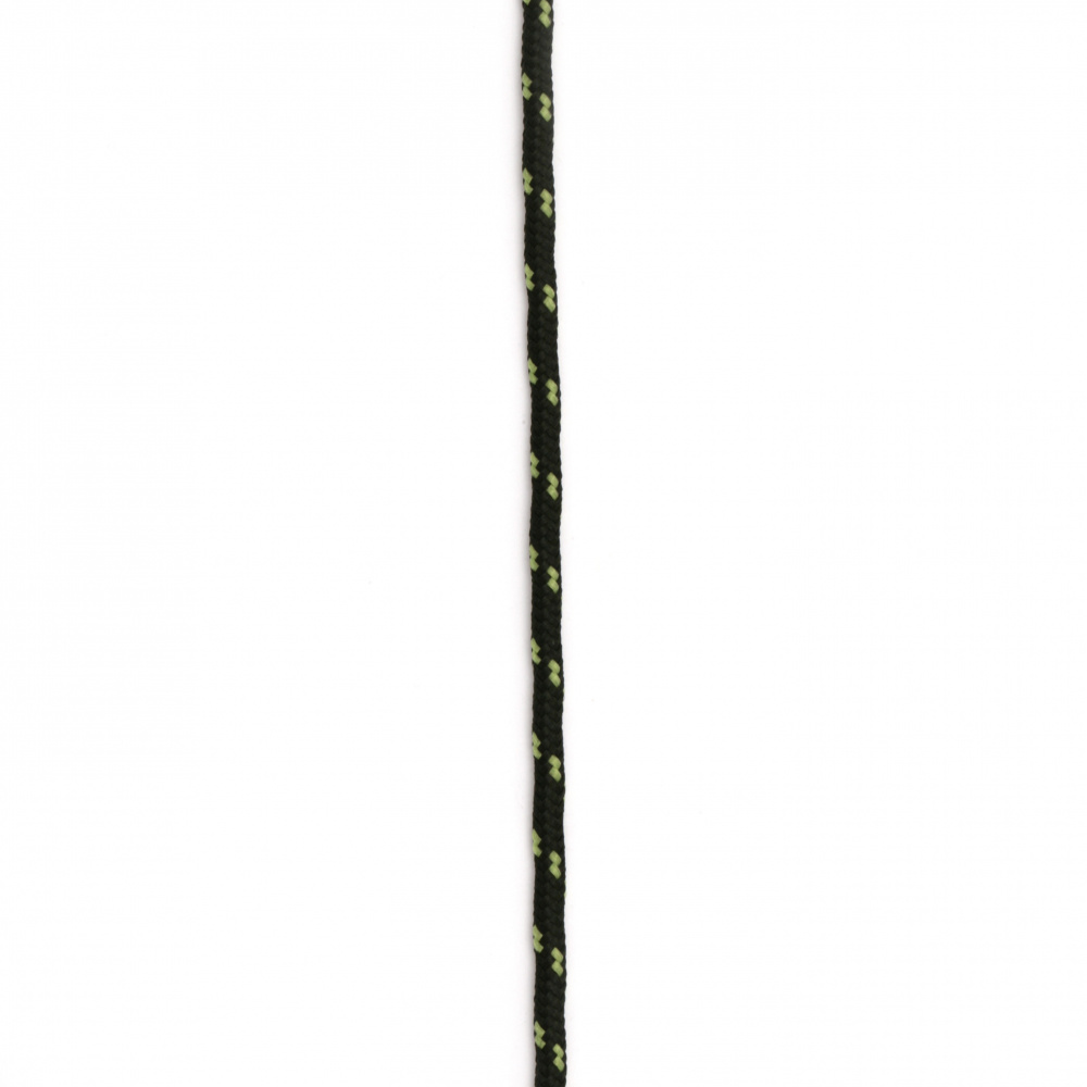 Паракорд /парашутно въже/ 3 мм цвят черен зелен - 1 метър