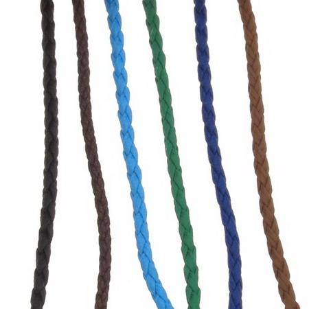 Δερματίνη πλεκτό κορδόνι 3 mm. μιξ χρώματα -1 μέτρο