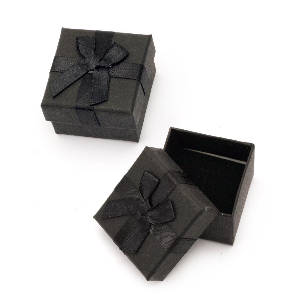 Cutie bijuterii 50x50 mm negru