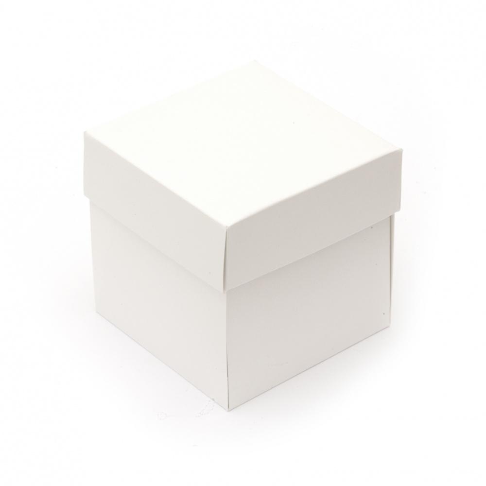 Заготовка за експлодираща кутия картон 10x10 см бяла -1 брой