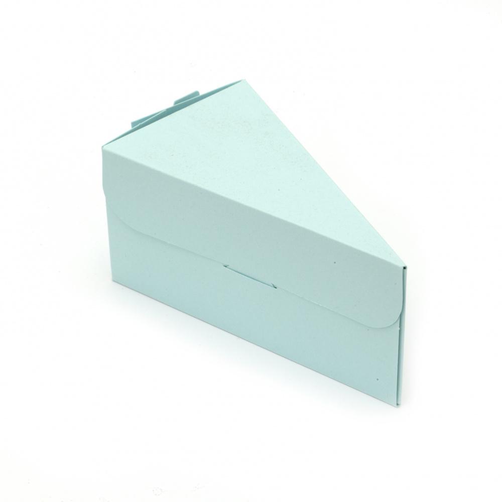 Заготовка за Парче торта картон 12x6.5x6 см микс цветове -1 брой