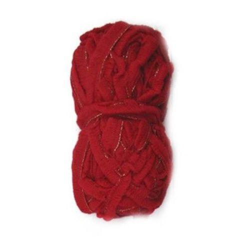 Νήμα LAMBADA κόκκινο με λαμέ 100% ακρυλικό 50 γραμμάρια -27 μέτρα