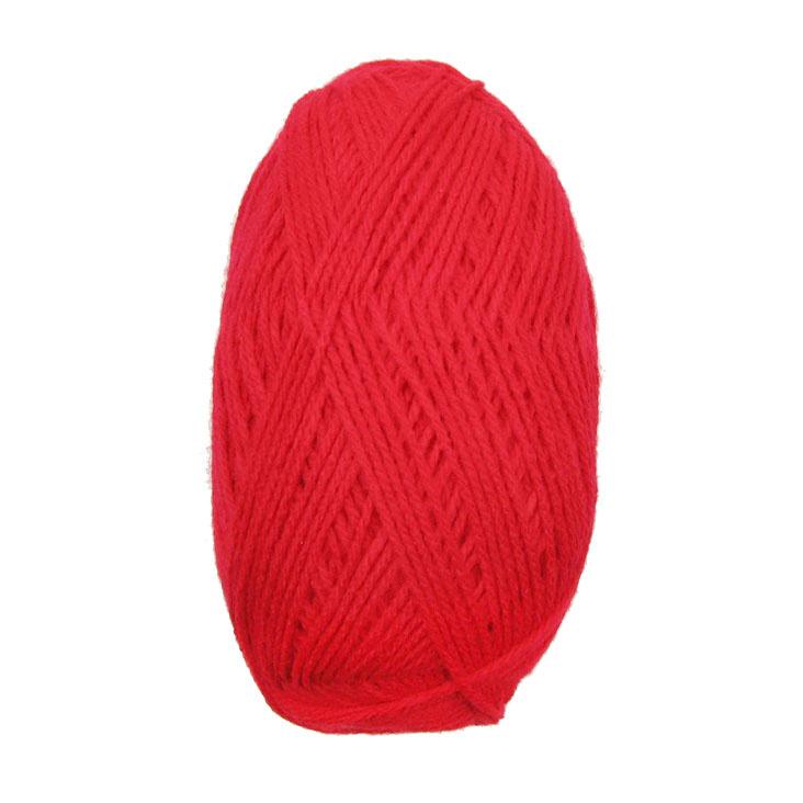 Прежда МИЛА 100 процента акрил червена -100 грама