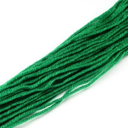 Прежда 2 мм зелена -47 грама ~95 метра