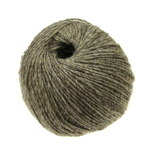 Gray wool yarn for handmade clothes and accessories  -50 grams