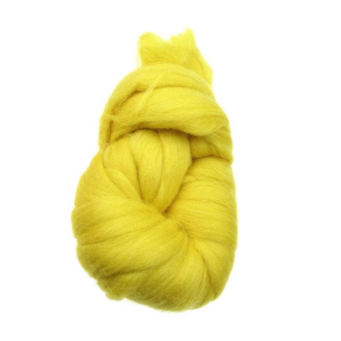 Прежда лента вълна жълта 100 грама -4 метра