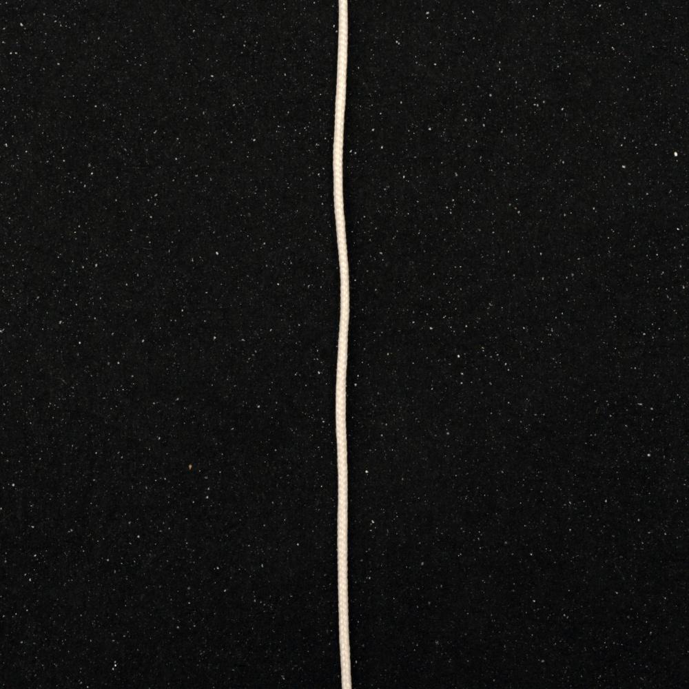 Шнур полиестер 0.6 мм бял -100 метра